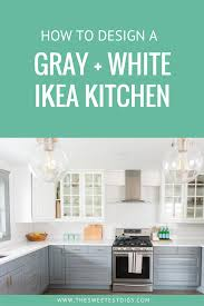 ikea blue grey kitchen cabinets a gray and white ikea kitchen transformation the sweetest digs