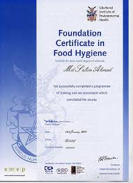 hygiene cuisine foundation certificate in food hygiene for mr india newbury