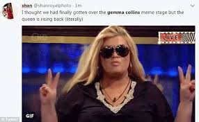 Gemma Collins Memes - towie s gemma collins suffers epic stage tumble daily mail online
