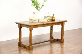 stickley kitchen island rustic french country pine trestle dining console or kitchen
