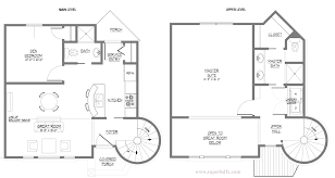 House Plan With Master Bedrooms Dashing Two Bedroom Plans Home