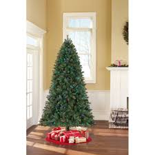 Fresh Cut Christmas Trees At Menards by Artificial Christmas Tree Pre Lit 7 5 U0027 Hammond Pine Clear Lights