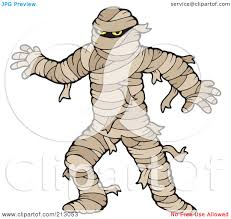 royalty free rf clipart illustration of a scary mummy walking by