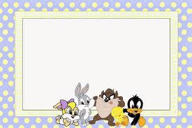 looney tunes babies free printable invitations baby