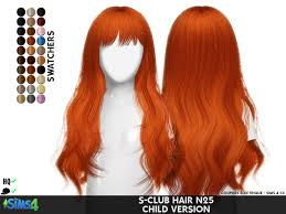 childs hairstyles sims 4 s club hair n25 child version redheadsims cc