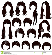 hair silhouettes woman hairstyle royalty free stock images