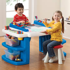 Children S Lego Table Amazon Com Step2 Build And Store Block And Activity Table Toys