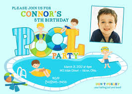 pool party birthday invitations iidaemilia com