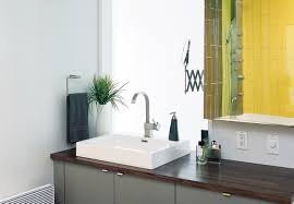 remarkable modern bathroom design with dark vanity unit unify twin