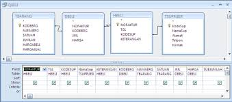 membuat query tabel program stok barang menggunakan vb dan microsoft access episode 5a