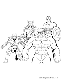 iron man thor hulk captain america coloring pages