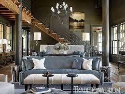 Lakeside Home Decor Living Room Transitional Living Room With Rustic Decor Rustic
