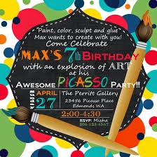 a picasso inspired boy u0027s art themed birthday party spaceships