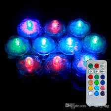 Waterproof Vase Lights Color Changing Remote Control Mini Led Submersible Tea Light