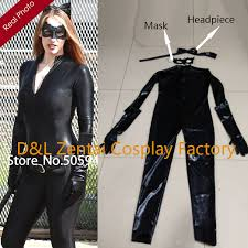 Latex Halloween Costume Compare Prices Catwoman Cosplay Jumpsuit Shopping Buy
