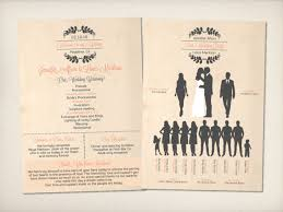 vintage wedding programs infographic wedding programs vintage bells co