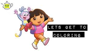 learn colors for kids u0026 colour dora the explorer coloring book