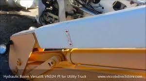 hydraulic boom versalift vn32h pi year 1990 for utility bucket