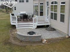 Deck And Patio Ideas Designs Trex Deck With Hip Roof And Grill Bump Out Amazing Decks