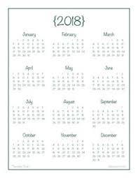 printable annual planner cute printable calendars 2018 monthly free january 2018 calendar
