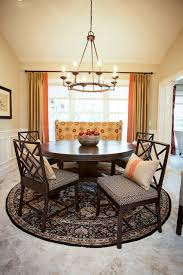 round braided rugs dining room traditional with circular dining