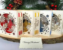 3d christmas cards pop up christmas etsy