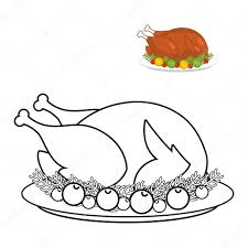 turkey for thanksgiving book roast turkey for thanksgiving coloring book fowl on plate in li