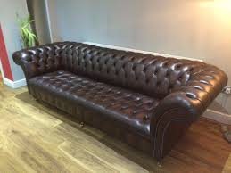 Chesterfield Sofa Price by Brown Leather Chesterfield Sofa 4 Seater Excellent Condition