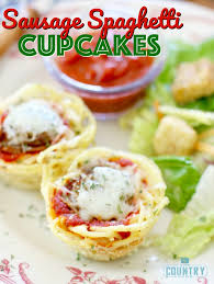 sausage spaghetti cupcakes the country cook