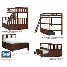 Universal Bunk Beds Simmons Mission Bunk Bed Hayneedle