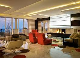 recommended living room style with sleek false ceiling decor part