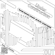 clipart maze under construction coloring page