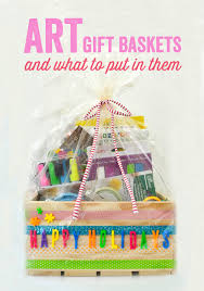 Gift Basket Ideas For Raffle The Best Art Supplies For Kids And Diy Art Gift Baskets Meri Cherry