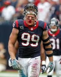jj watt in last weeks game he had to get his nose stitched up i