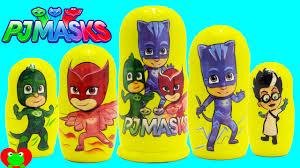 pj masks nesting dolls shopkins surprises