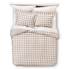 Red Gingham Duvet Cover Gingham Reversible Duvet Cover Set Target