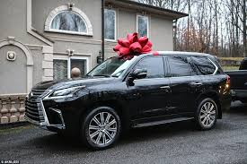 big bow for car present bankrupt teresa giudice s 90 000 lexus suv gift because she
