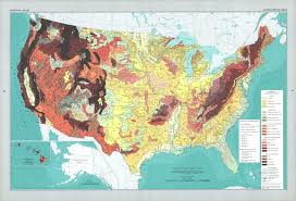 United States Map Poster by The National Atlas Of The United States Of America Perry