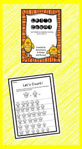 a cute spring theme worksheet for students to practice counting by