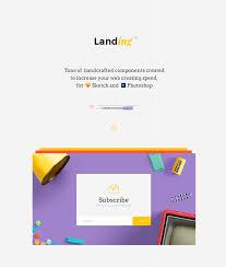 free ui kit landing page free design resources