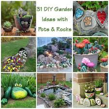 Diy Garden Ideas 31 Diy Awesome Garden Ideas With Pots And Rocks Gardenoid