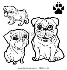 dog cartoon dog paw print coloring stock vector 698974435