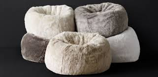ultra faux fur bean bag collection rh modern