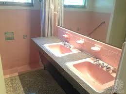ideas to tone down the sea of pink in gus u0027 pink bathroom retro
