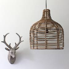 Bamboo Ceiling Light Bamboo Pendant Light Primrose Plum