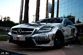 mercedes cls 63 amg black project mercedes cls63 amg wrapped in chrome silver by dbx11