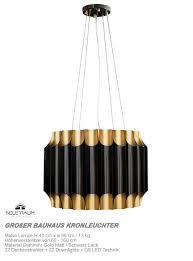 Wohnzimmerlampe H Enverstellbar Großer Moderner Bauhaus Kronleuchter Schwarz Gold Neuerraum