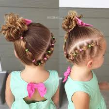 toddler hair connected side bubbles and side bun toddler hair ideas