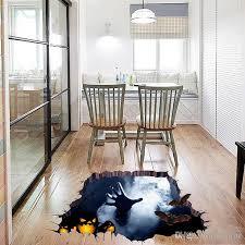 Halloween Floor Decorations by 2017 Halloween 3d Broken Wall Sticker Bedroom Home Floor Stickers