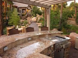 irresistible outdoor kitchen designs with kitchen island and